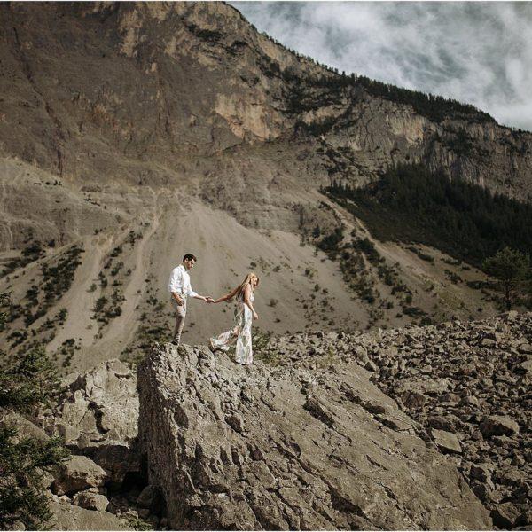 Destination Wedding Photographer - Engagement on Alps Italy