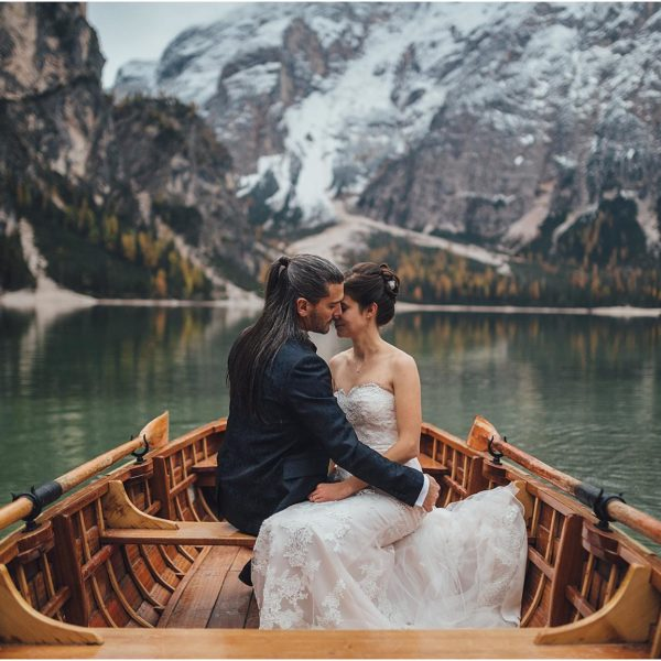 DESTINATION WEDDING PHOTOGRAPHER - ELOPEMENT ON LAKE BRAIES & DOLOMITES