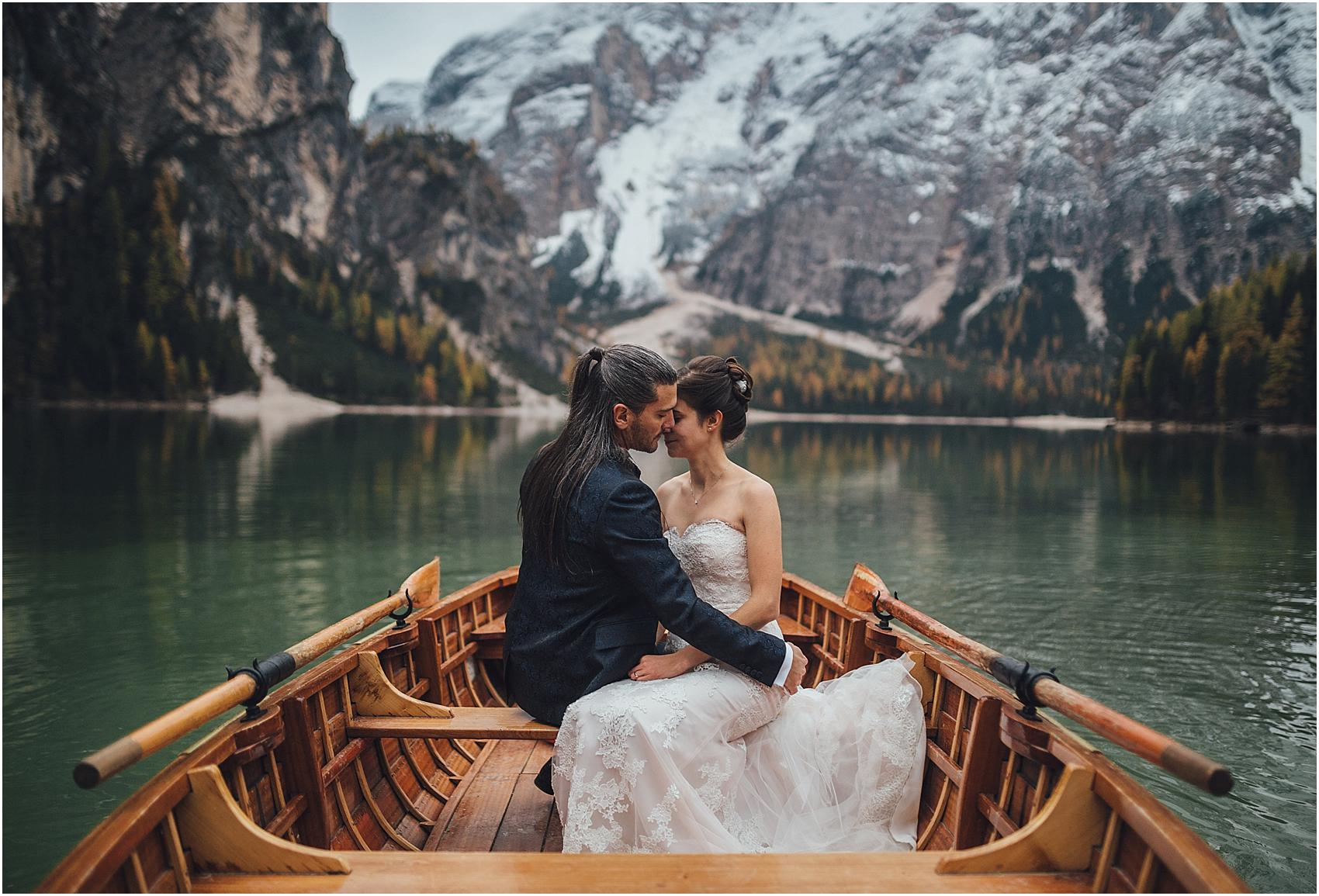 wedding lake braies & dolomites