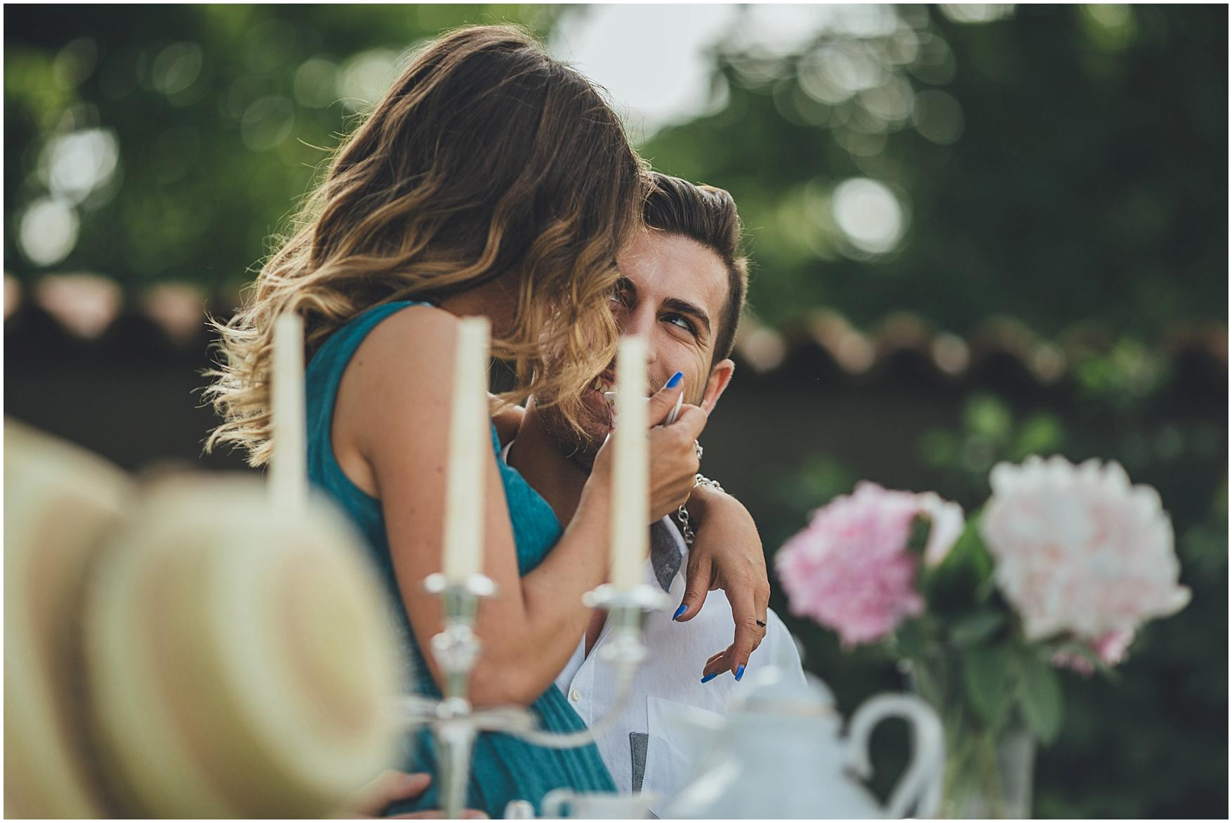 country chic engagement